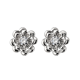 14K / 18K flower and I earring