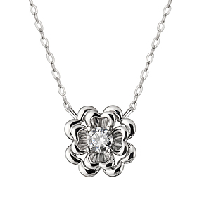 "<b><font color=""b400b0"" >[Part 1 Contemporary Emotion]</font></b> <br> 14K / 18K Flower and Part 1 Diamond Necklace"