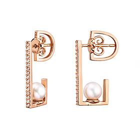 14K / 18K modern freshwater pearl change earring