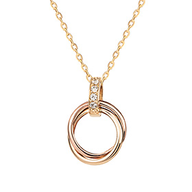 14K / 18K Circle Karma Necklace