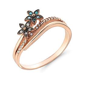 14K / 18K Freesia diamond ring