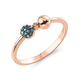 14K / 18K bubble ribbon diamond ring