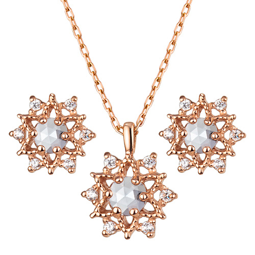 14K Nocturne set [Necklace + earring]