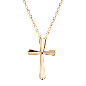 14K / 18K Holly Cross Necklace