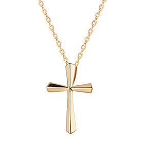 14K / 18K Holly Cross Necklace