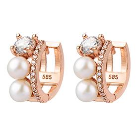 14K / 18K blanko earring