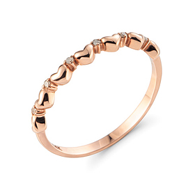 14K / 18K love hellen cognac diamond ring
