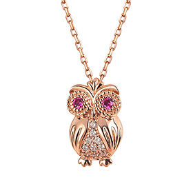 14K / 18K Wisdom Owl Necklace