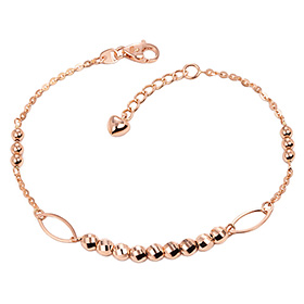 14k / 18k rail mirror ball bracelet