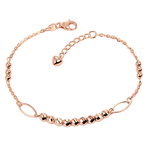 14k / 18k rail mirror ball bracelet