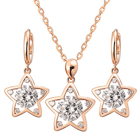 14K / 18K Dilight Star set [Necklace + earring]