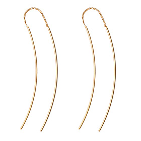14K Wave Long Earrings