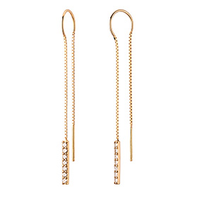 14K / 18K Beaded Long Earrings