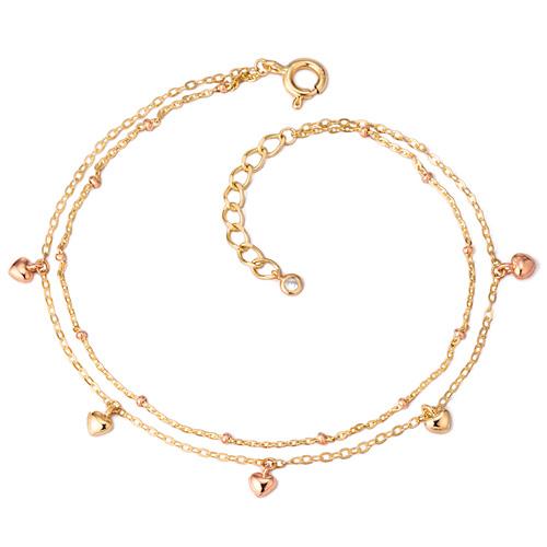 14k / 18k twill heart bracelet