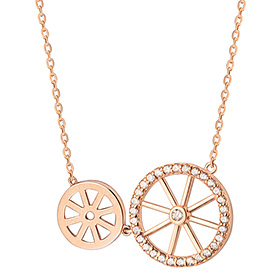 14K / 18K Water Mill Necklace