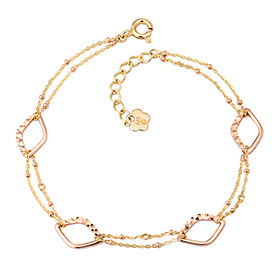 14k / 18k shiny lip bracelet