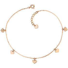 14k / 18k Charming Heart anklet