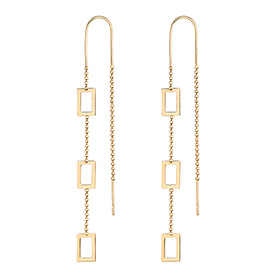 14K ShineOn Net Long Earrings