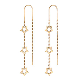 14K Shine Stella Long Earrings