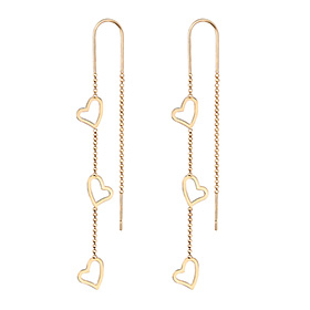 14K Shine Amour Long Earrings