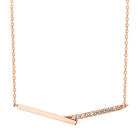 14K / 18K V Cross Necklace