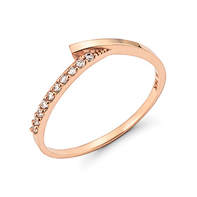 14K / 18K V cross ring