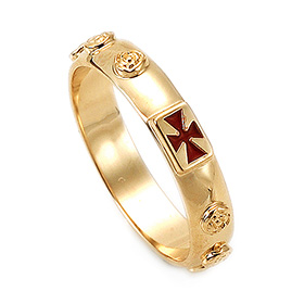 14K / 18K R174 Min Rosary Ring