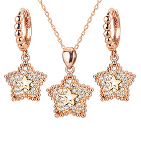 14K / 18K Winnie Star set [Necklace + earring]