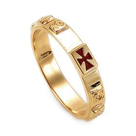14K / 18K R175 Min Rosary Ring