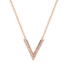 14K / 18K V Angle Necklace