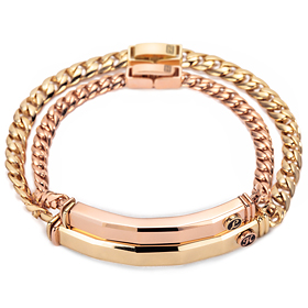 14k / 18k dick chocolate diamond couple bracelet [men, women pair price]