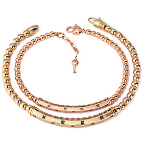 14k / 18k Darjeeling couple bracelet [men, women pair price]
