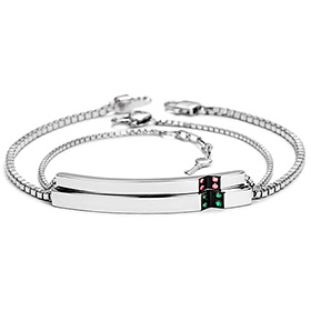 V-fit diamond couple bracelet [men, women pair price]