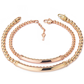 14k / 18k simple cube couple bracelet [men, women pair price]