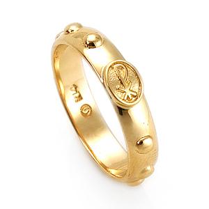 14K / 18K R180 Min Rosary Ring