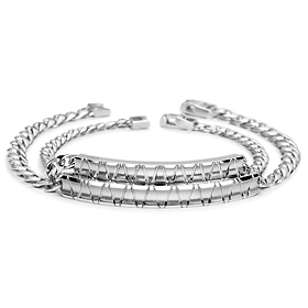 Slant diamond is a couple bracelet [men, women pair price]