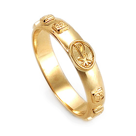 14K / 18K R181 Min Rosary Ring