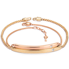 14k / 18k Promise diamond couple bracelet [men, women pair price]