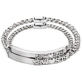 Stamping diamond is a couple bracelet [men, women pair price]