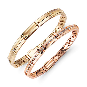 14k / 18k sparkle diamond couple bracelet [men, women pair price]