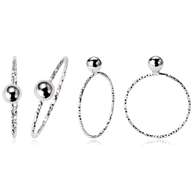 Silver ten pieces Ball ring [overnightdelivery]