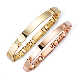 14k / 18k glaming diamond couple bracelet [men, women pair price]