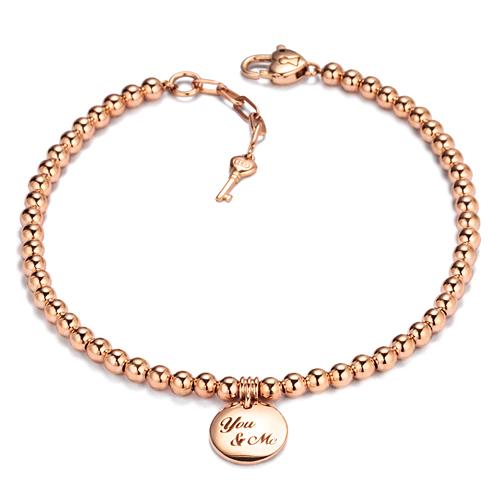 14k / 18k Beige Marble Initial Bracelet
