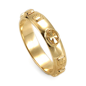 14K / 18K R183 Min Rosary Ring