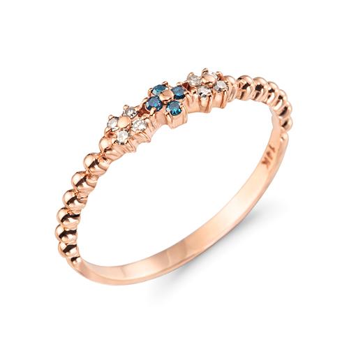 14K / 18K Fleur diamond ring