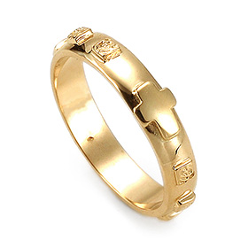 14K / 18K R184 Min Rosary Ring