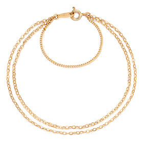 14k / 18k simple link (medium) two lines bracelet