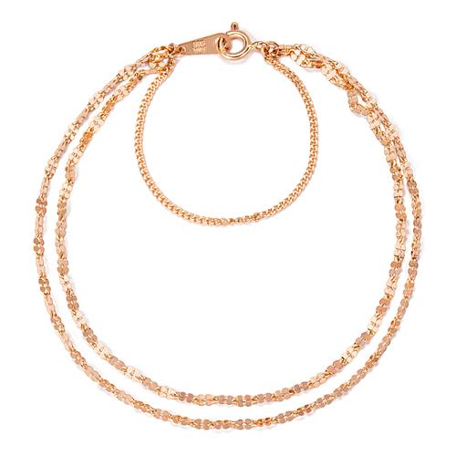 14k / 18k Shine Lucky (small) two lines bracelet [overnightdelivery]