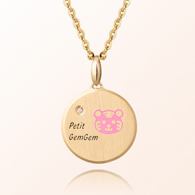2010 Tiger Titmia Prevention Gold Necklace