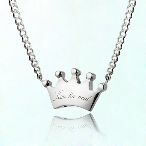 Silver necklace to prevent plump crowns